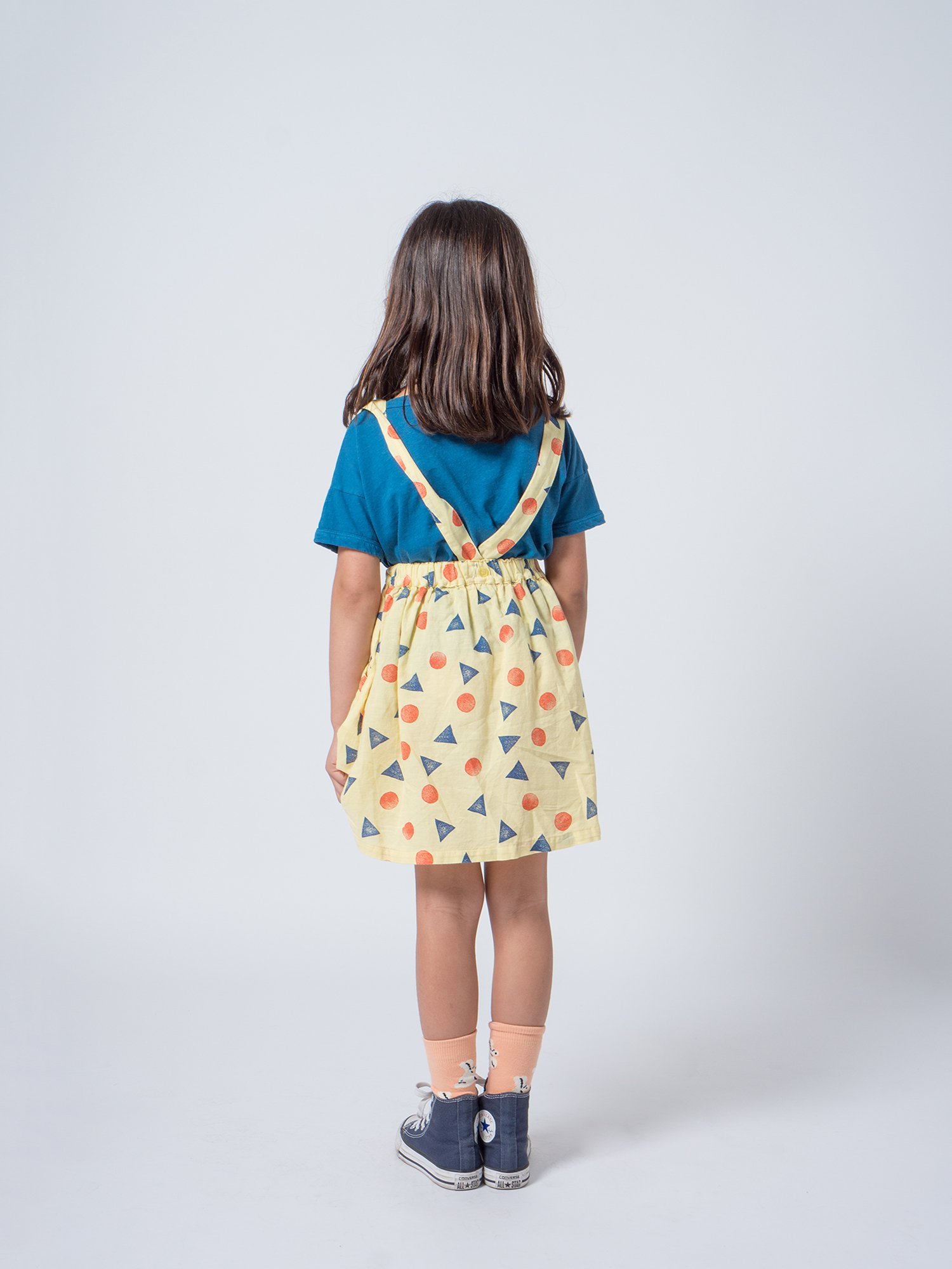 Kid Daisy Short Linen T-Shirt Look