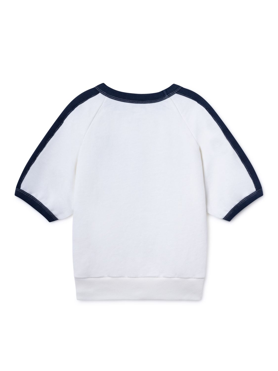 Open 3/4 Sleeve Sweatshirt