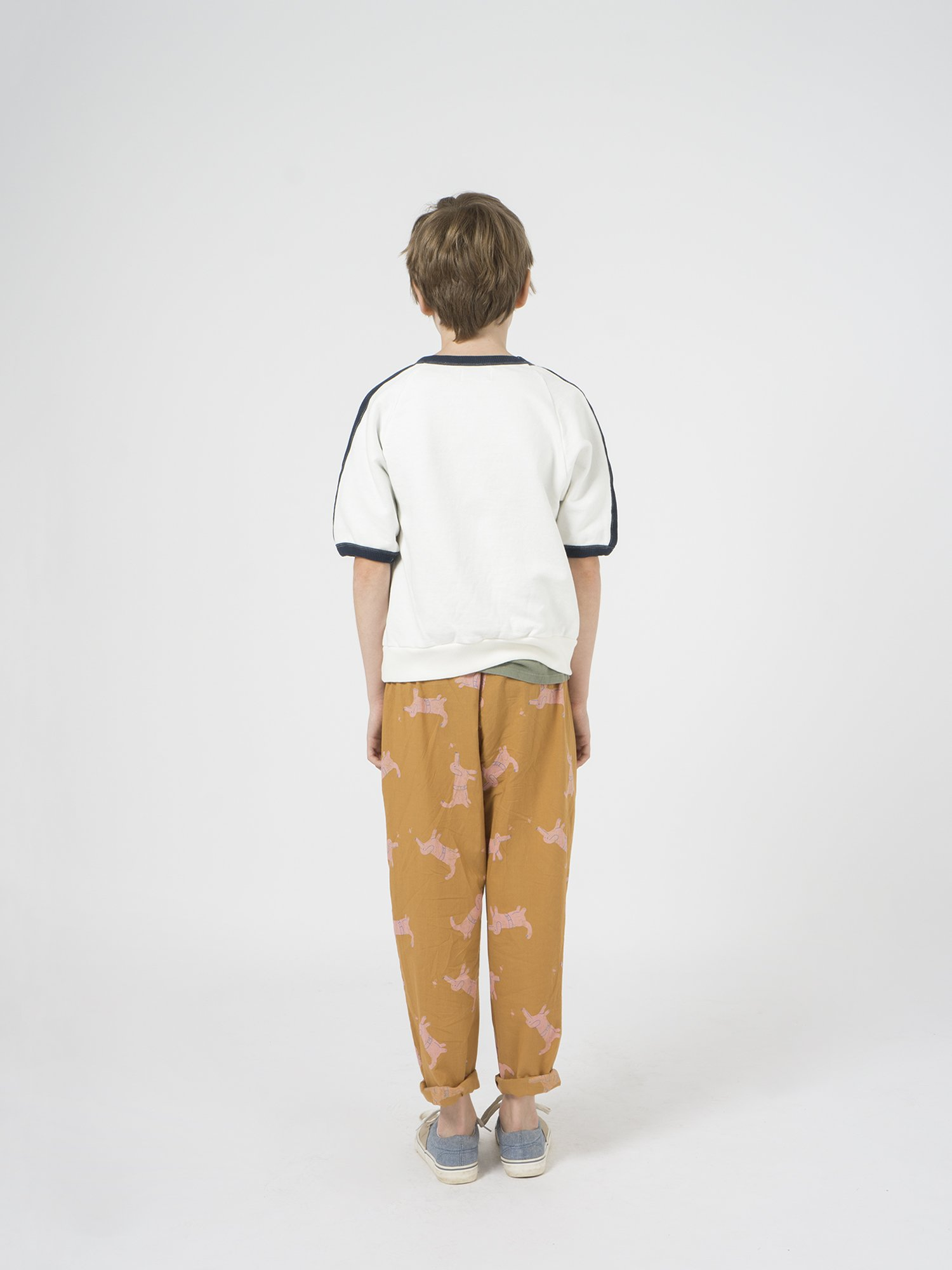 Kid Open 3/4 Sleeve Sweatshirt Look