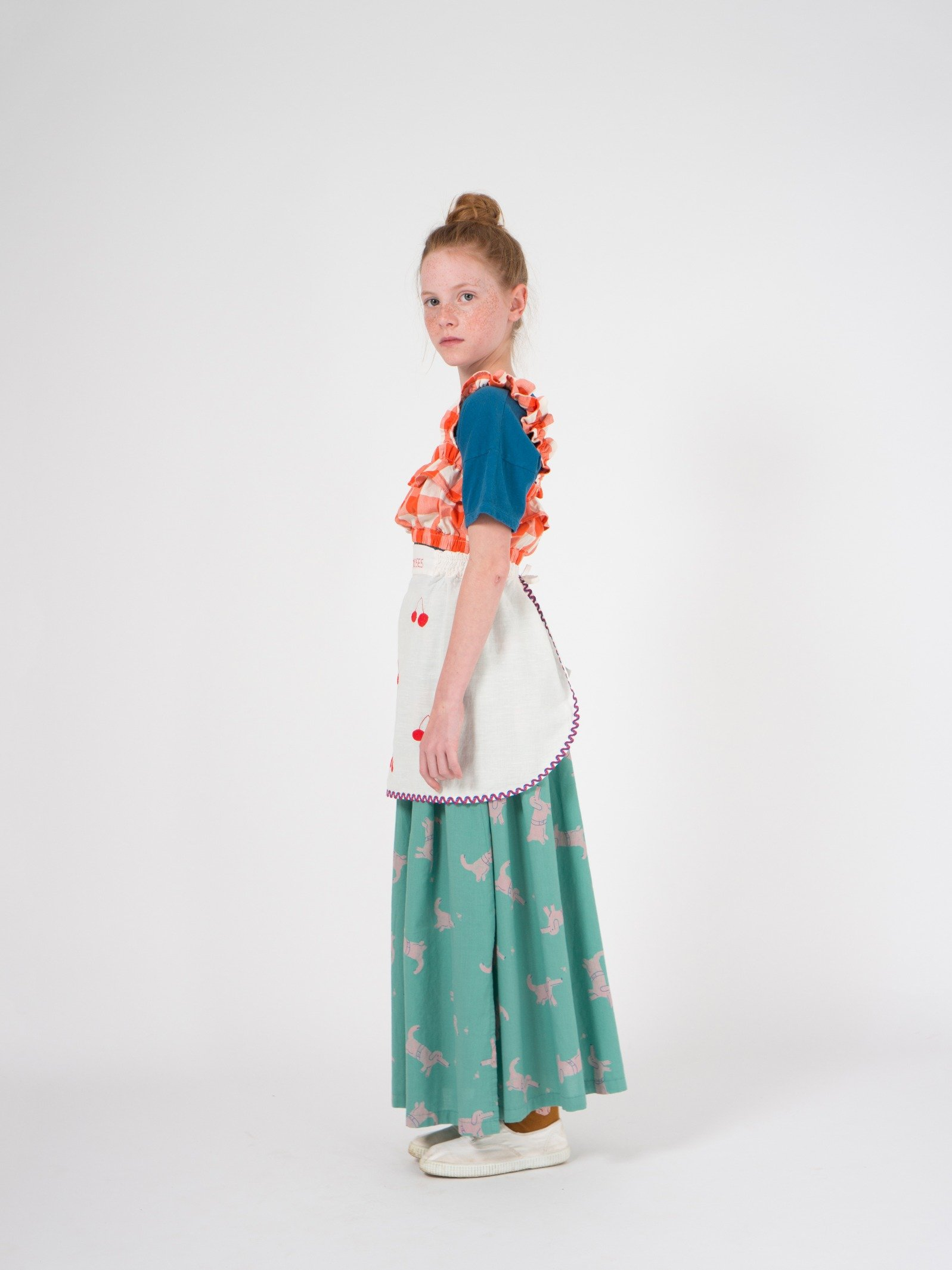 Kid Ruffles Vichy Top Look
