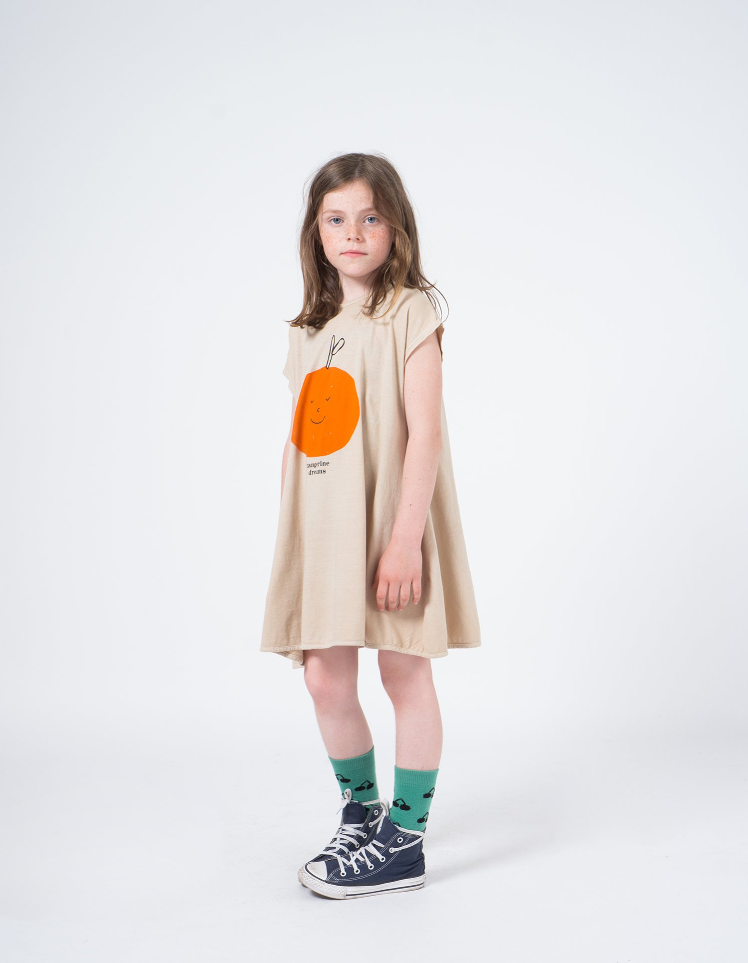 Kid Tangerine Dreams Evase Dress Look