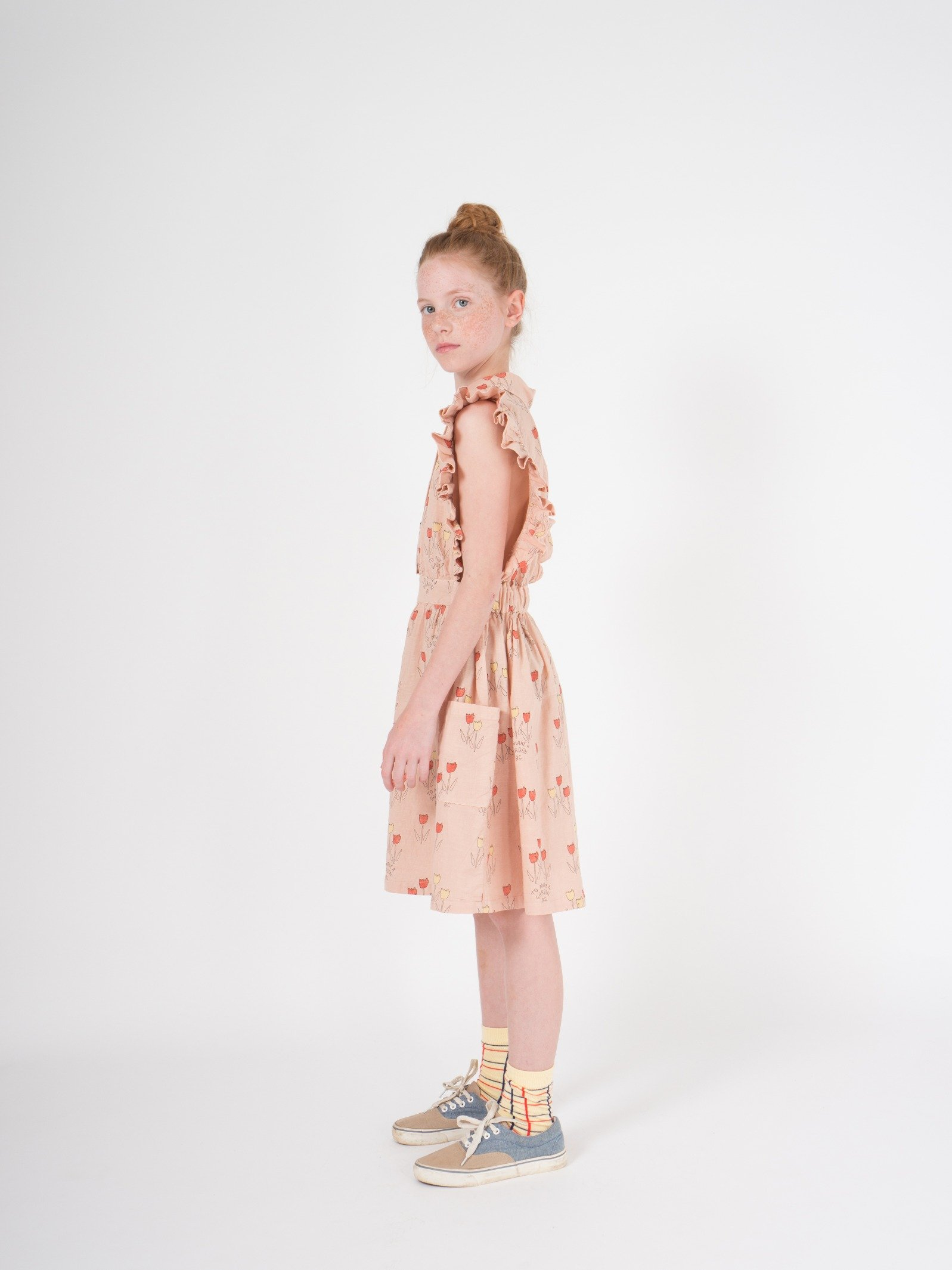 Kid Poppy Prairie Ruffles Dress Look