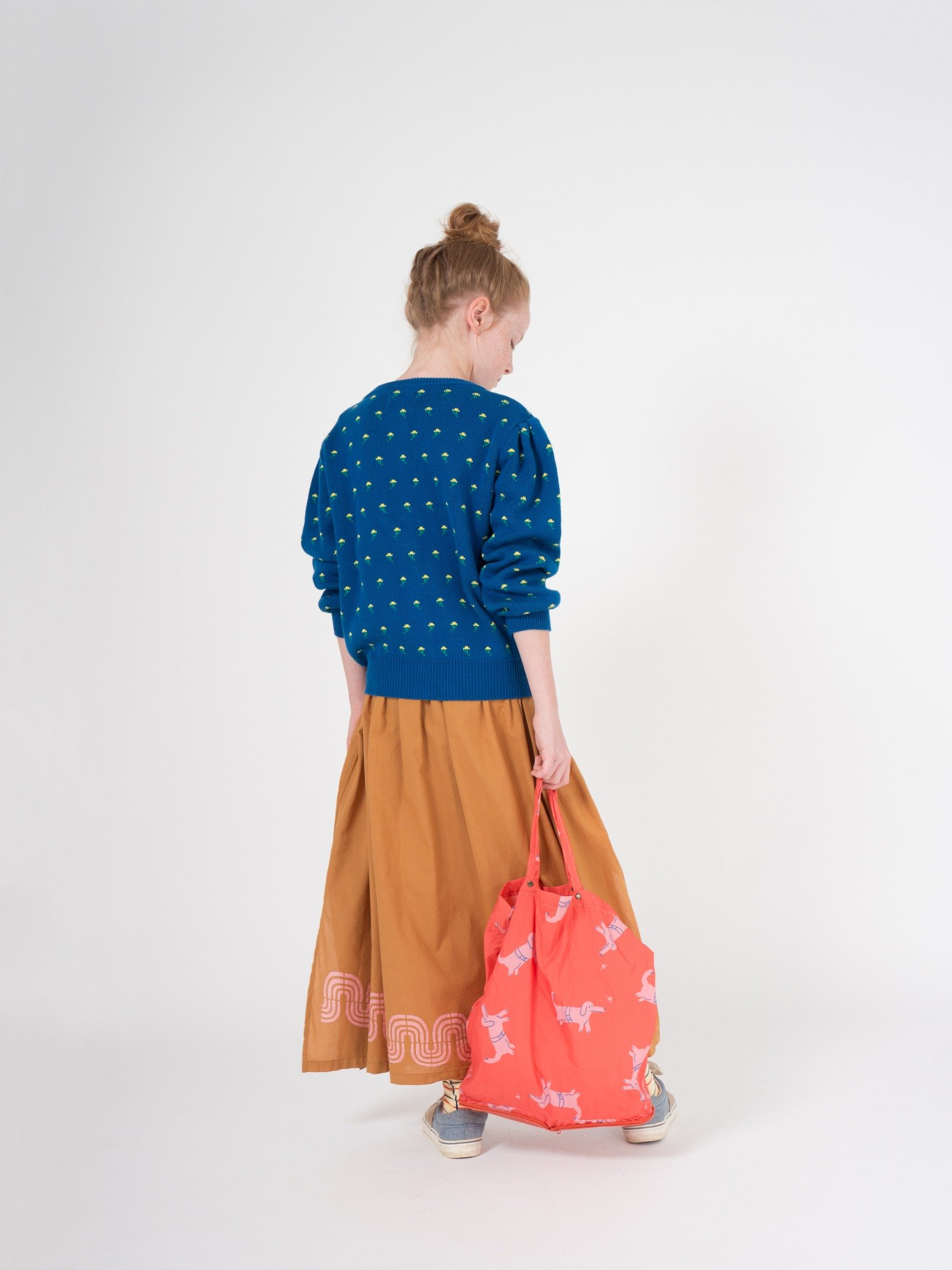 Kid Flowers Cardigan Look