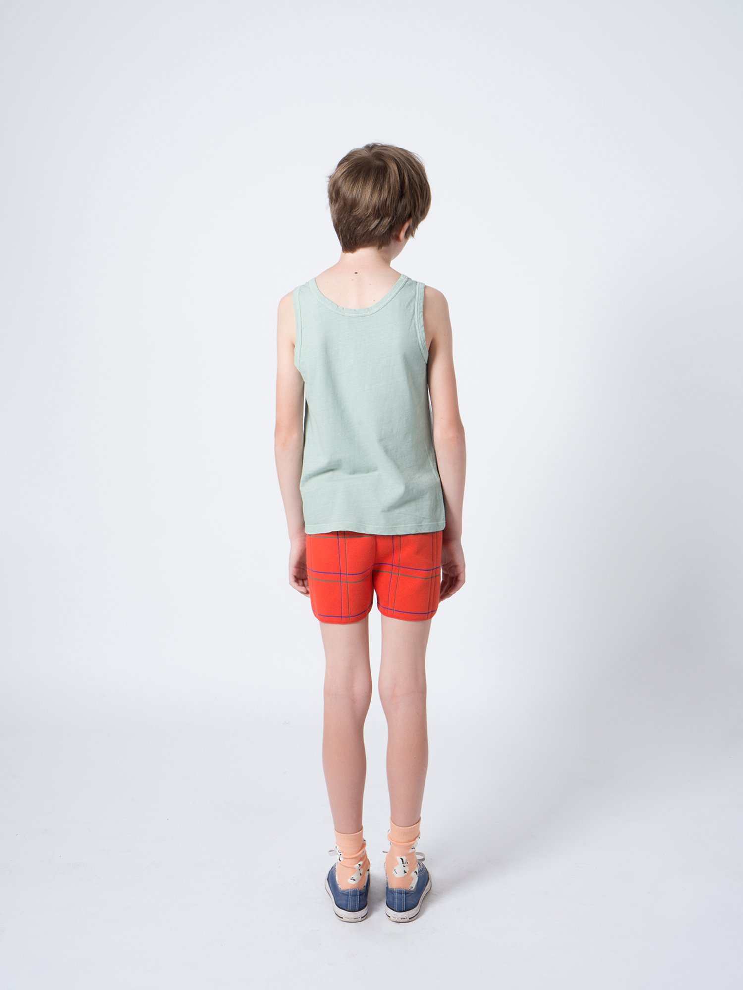Kid Lines Knitted Shorts Look