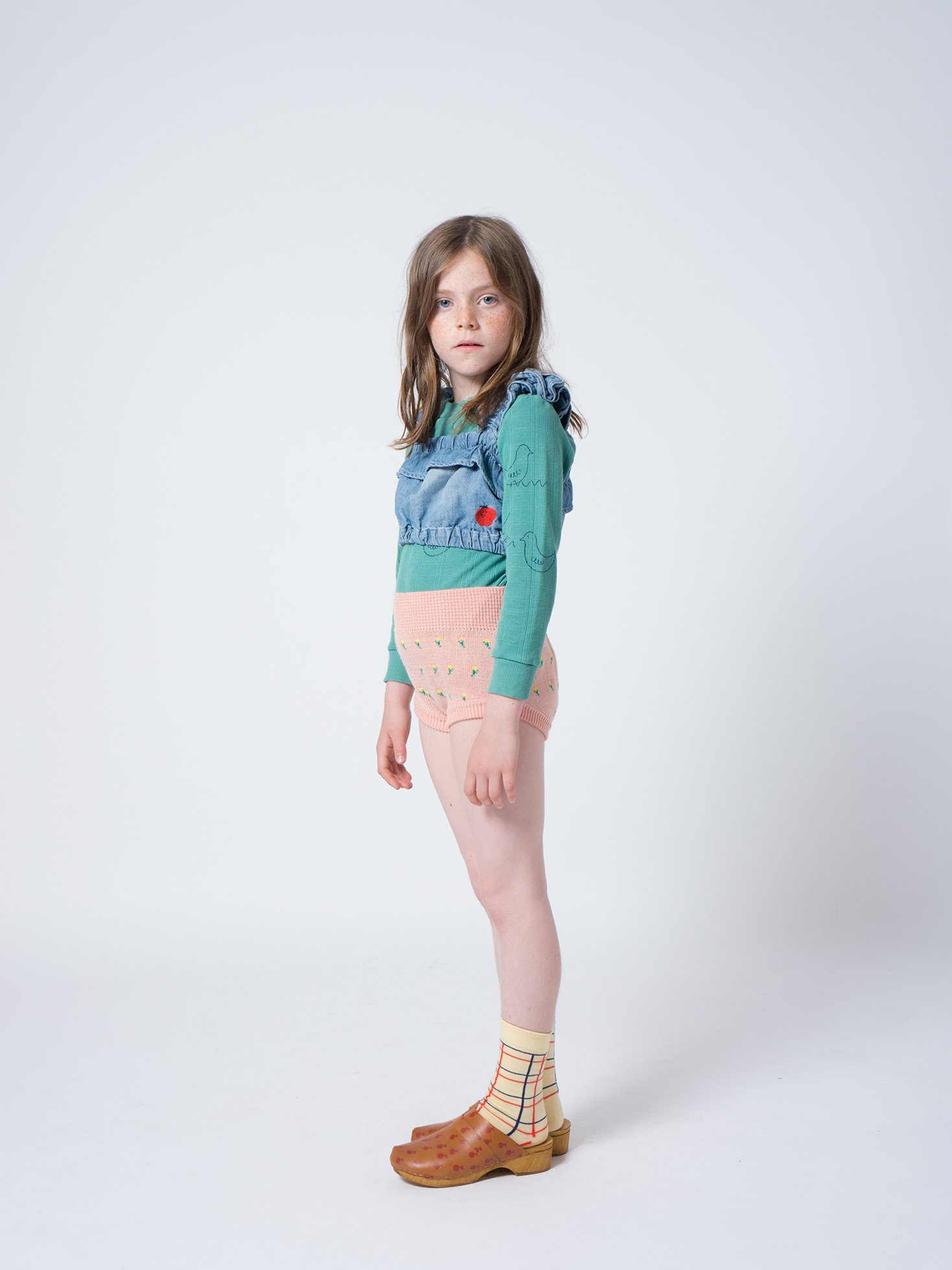 Kid Flowers Knitted Culotte Look