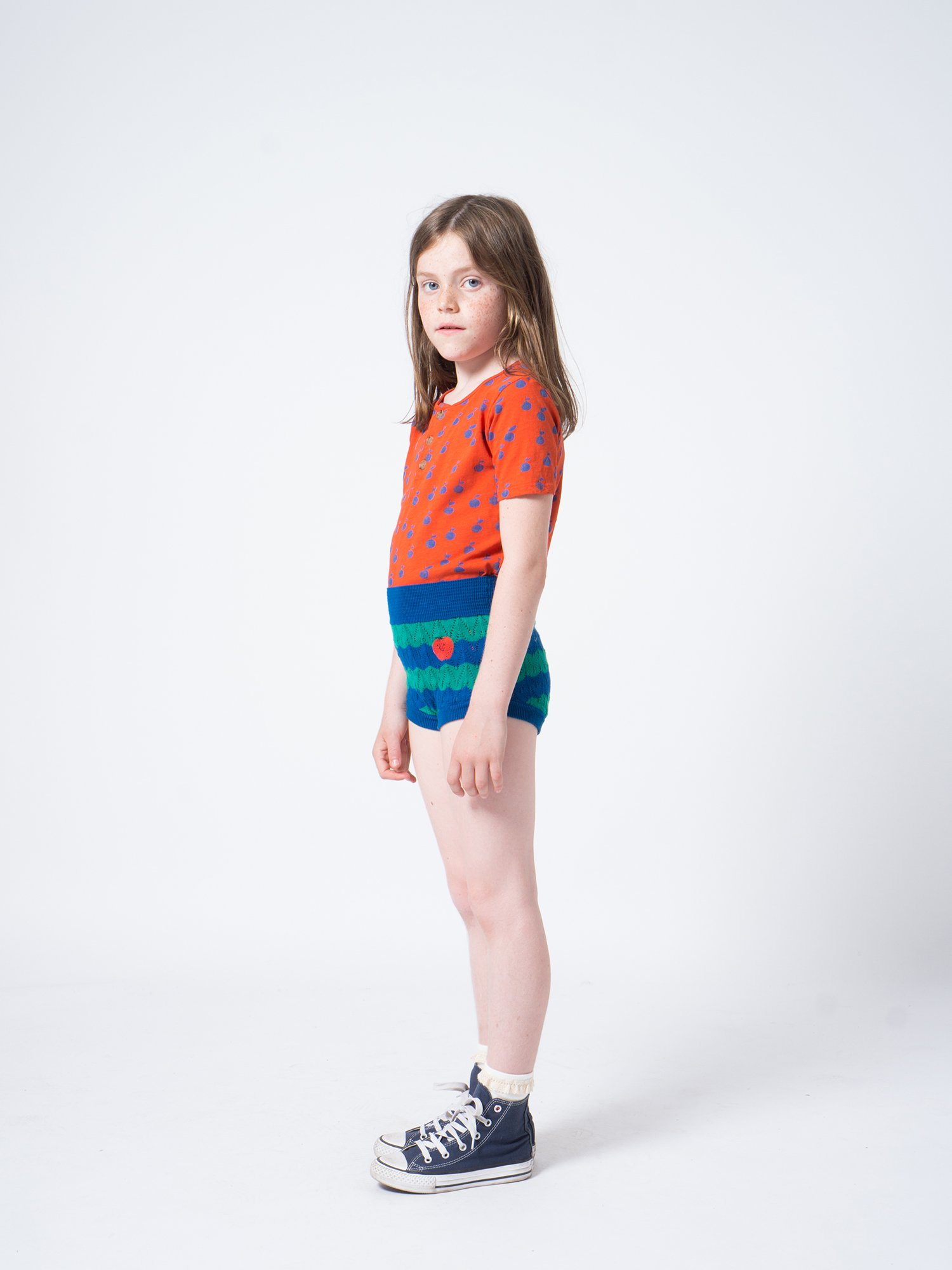 Kid Strawberry Knitted Culotte Look