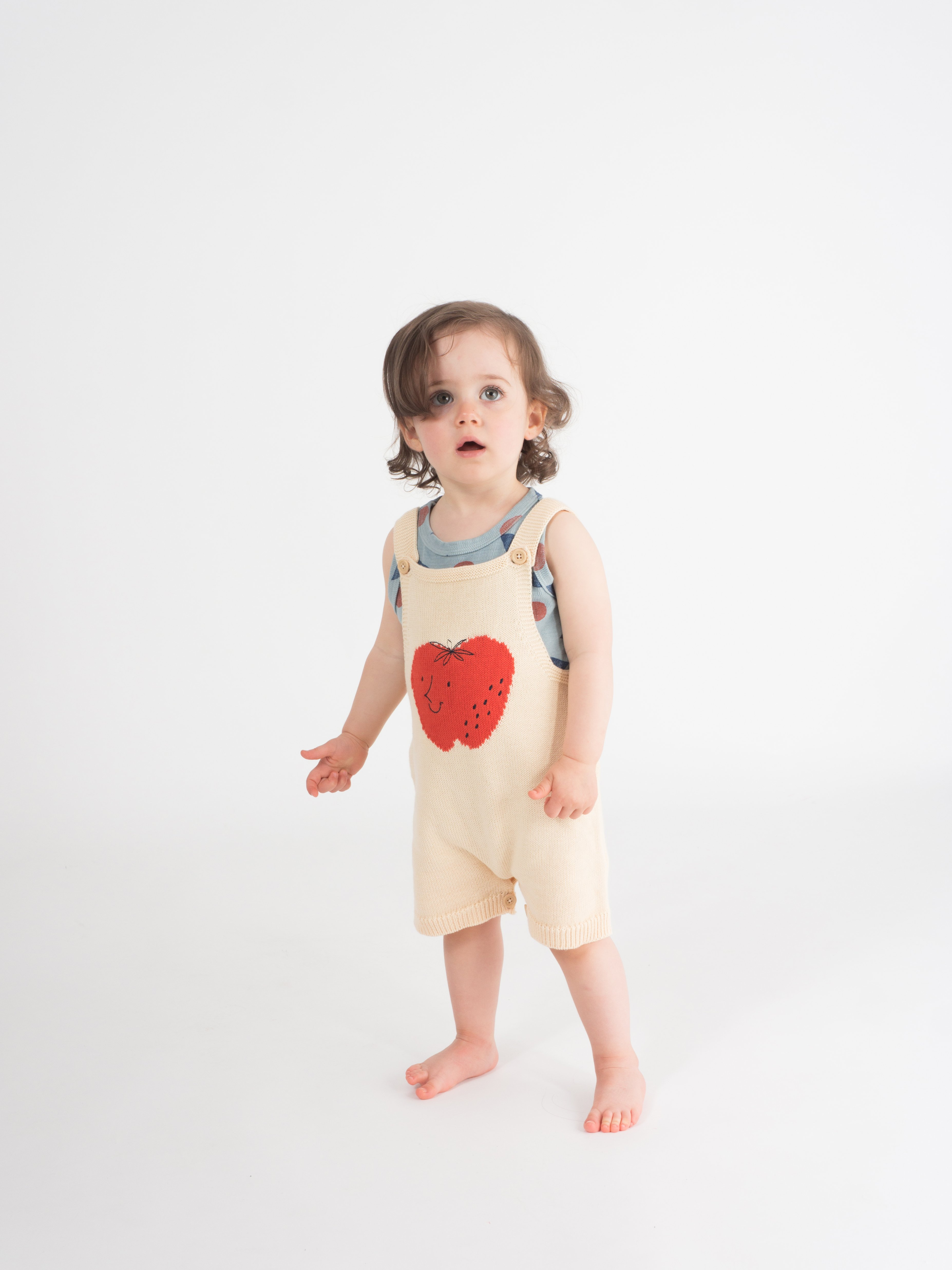 Strawberry Knitted Overall