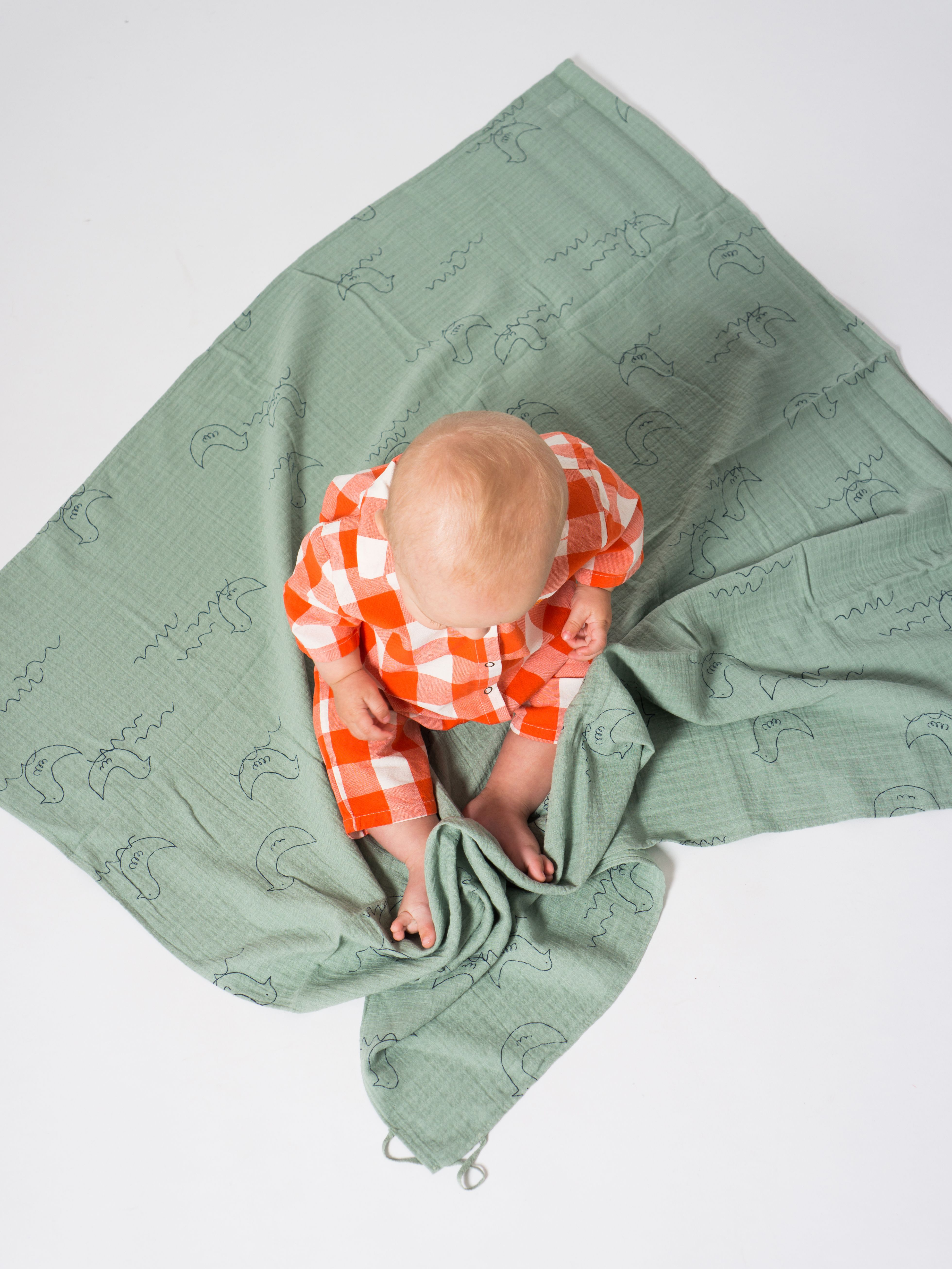 Geese Baby Swaddle Muslin