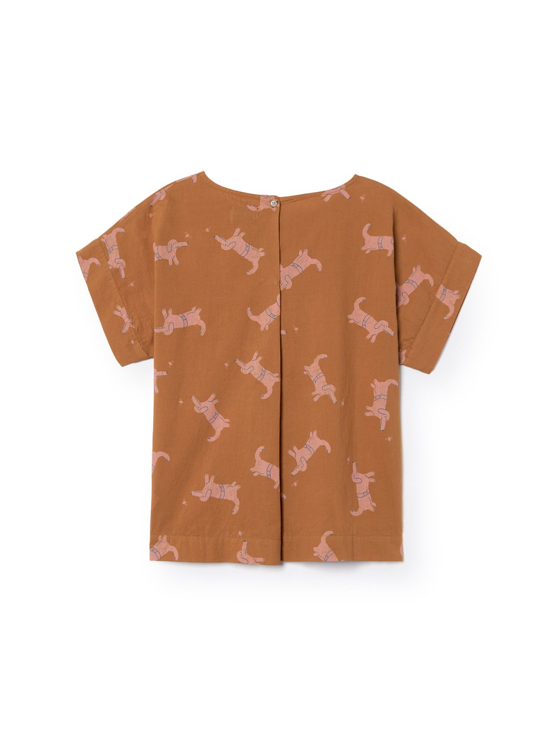 Paul's Dog Short Sleeve Blouse