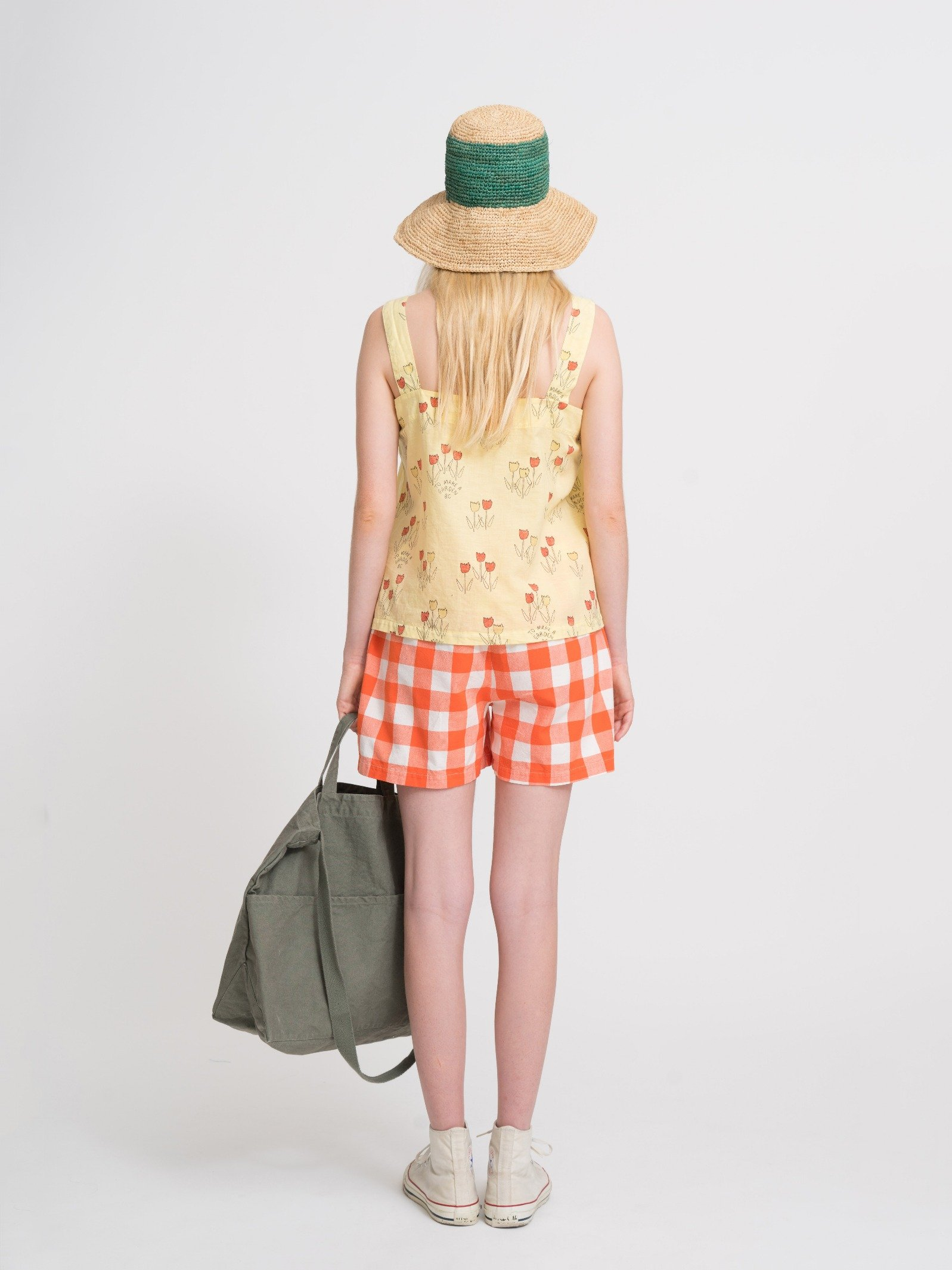Woman Poppy Prarie Straps Top Look
