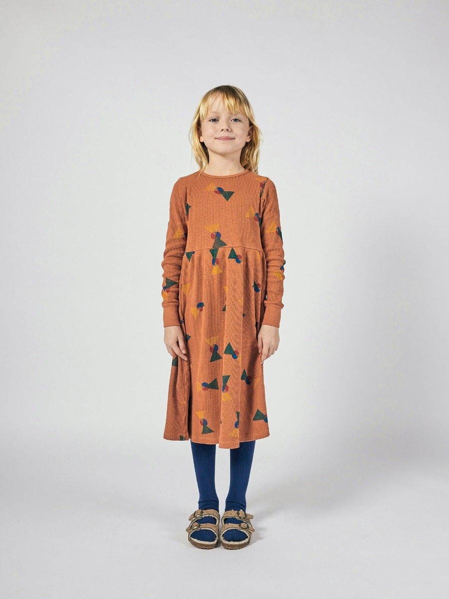 All Over Flags Jersey Dress