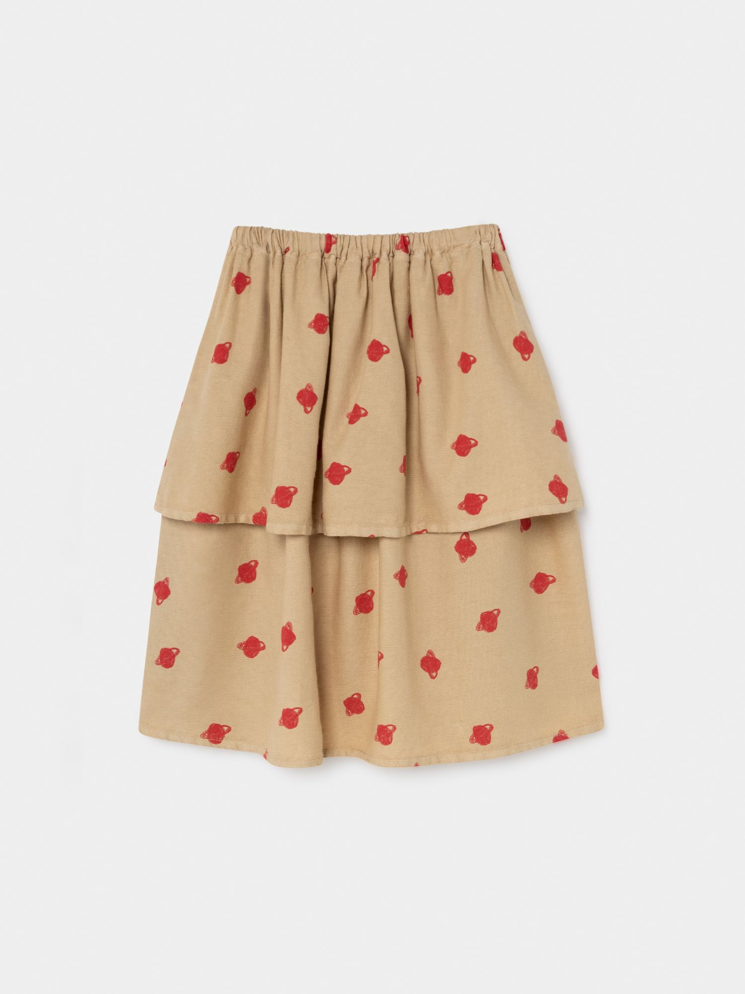 All Over Small Saturn Midi Skirt