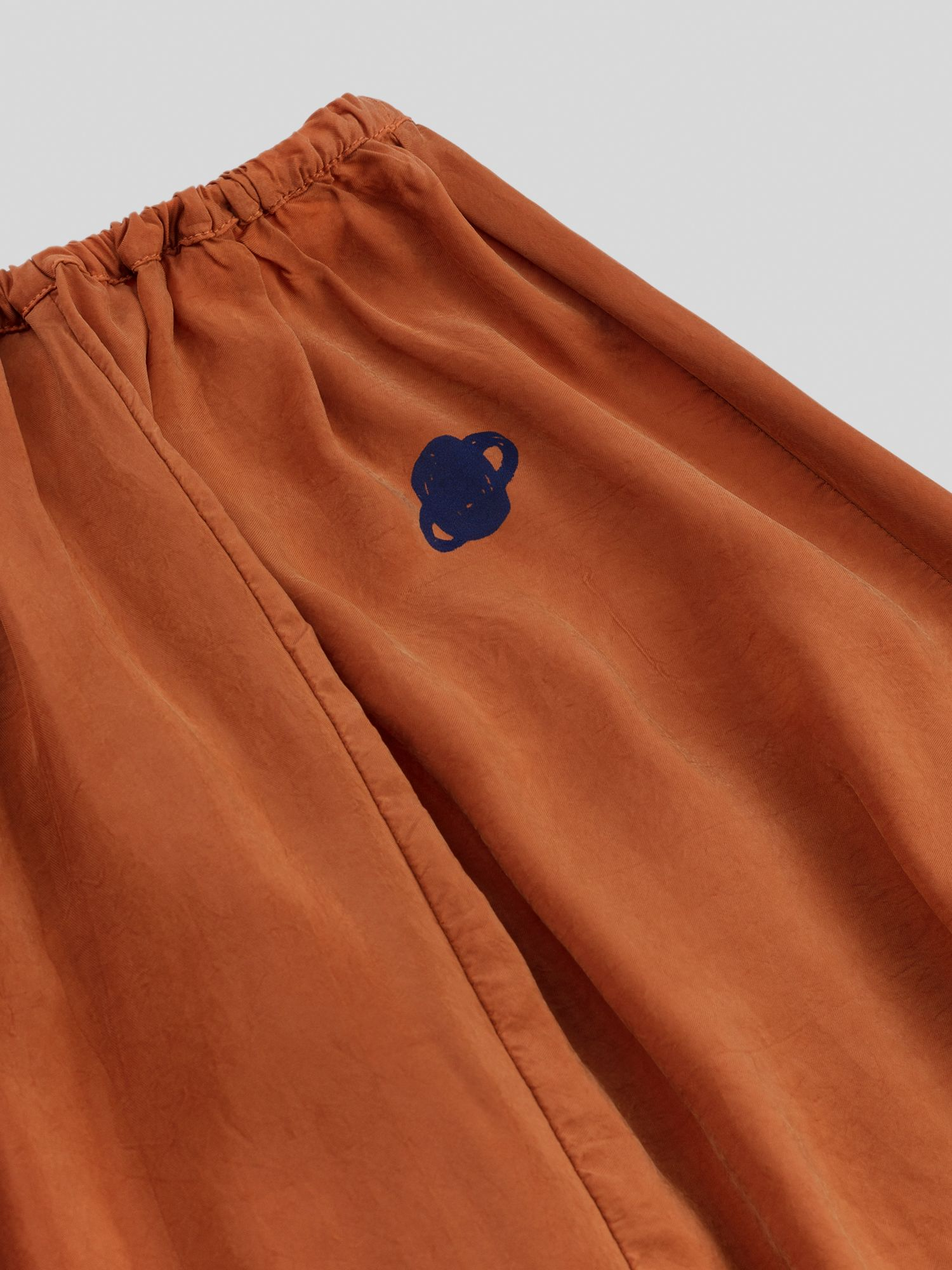 Orange Moon Cupro Midi Skirt