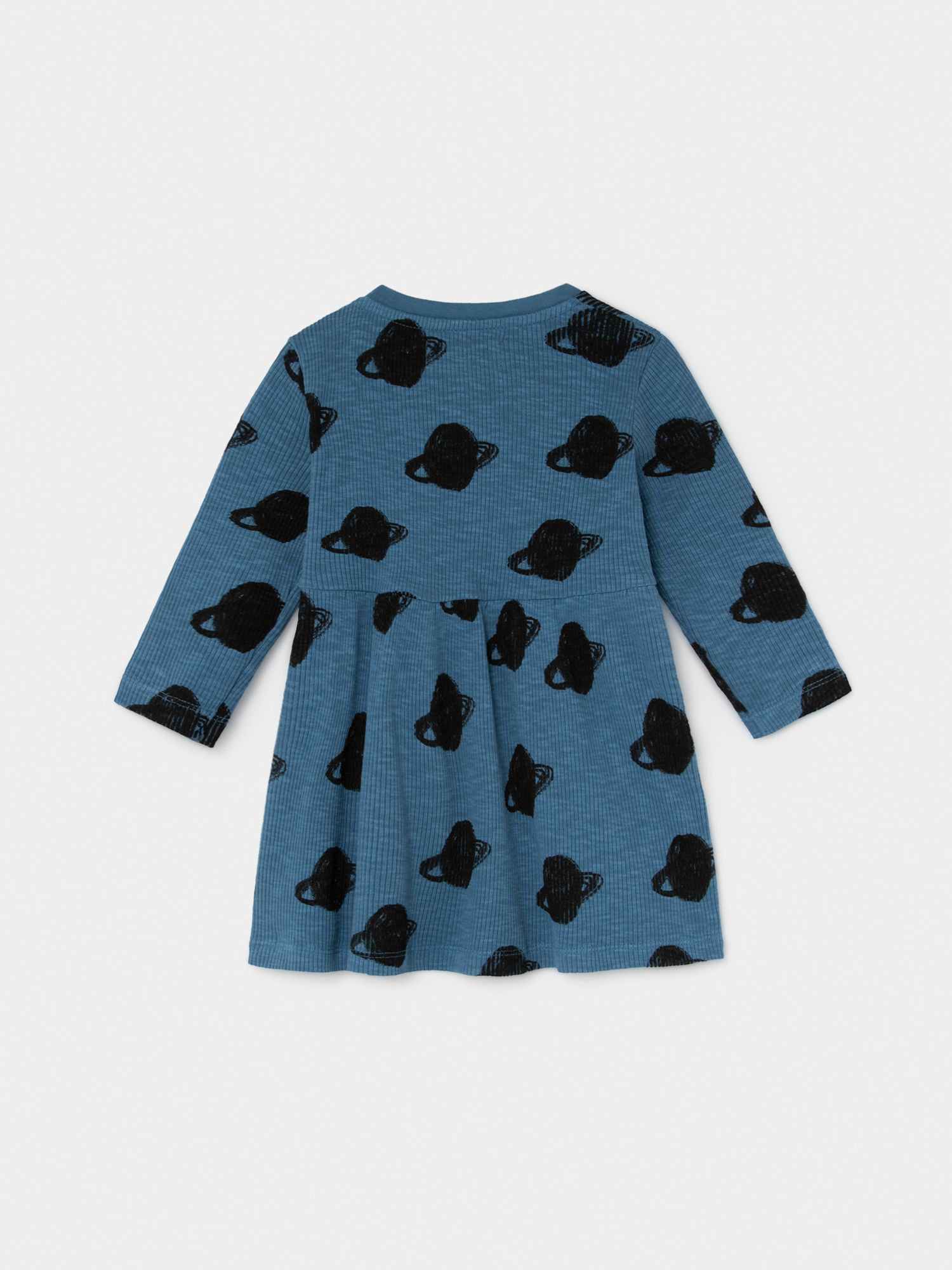 All Over Small Saturn Jersey Dress