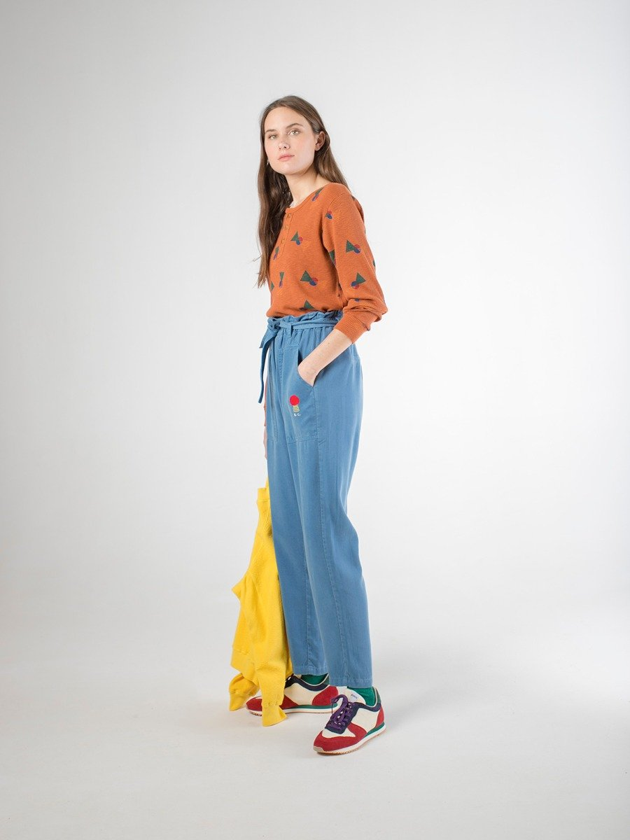 Flags Buttoned T-Shirt Woman Look