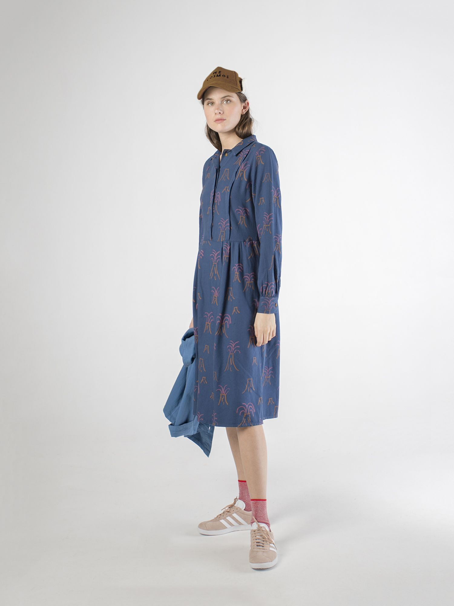 All Over Volcano Pleated Dress