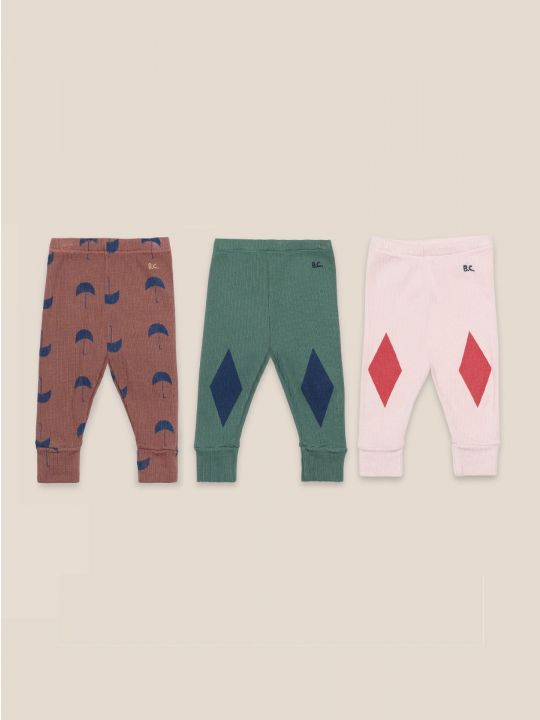 Multicolor leggins set