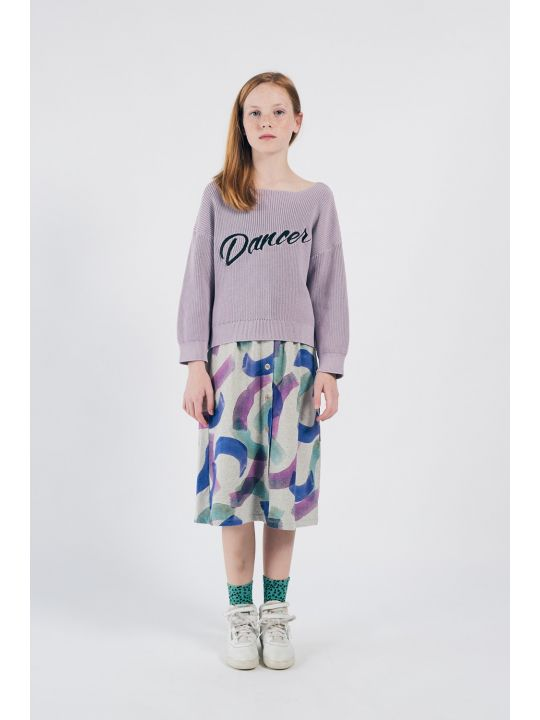 All Over Painted Jersey Skirt Look