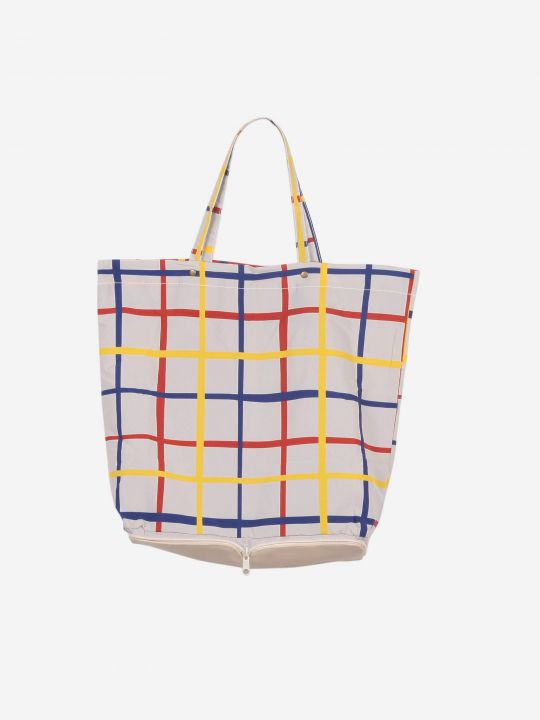 Multicolour Check Packable Shopping Bag