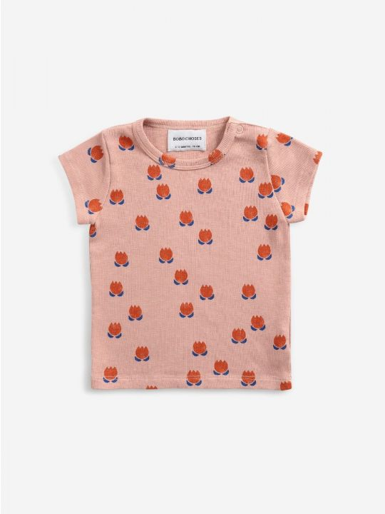 Small Chocolate Flowers All Over T-shirt