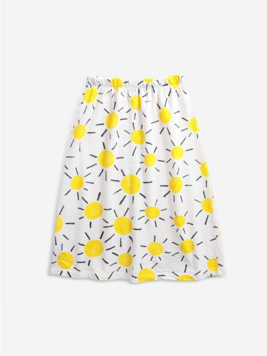 Sun All Over midi buttoned skirt
