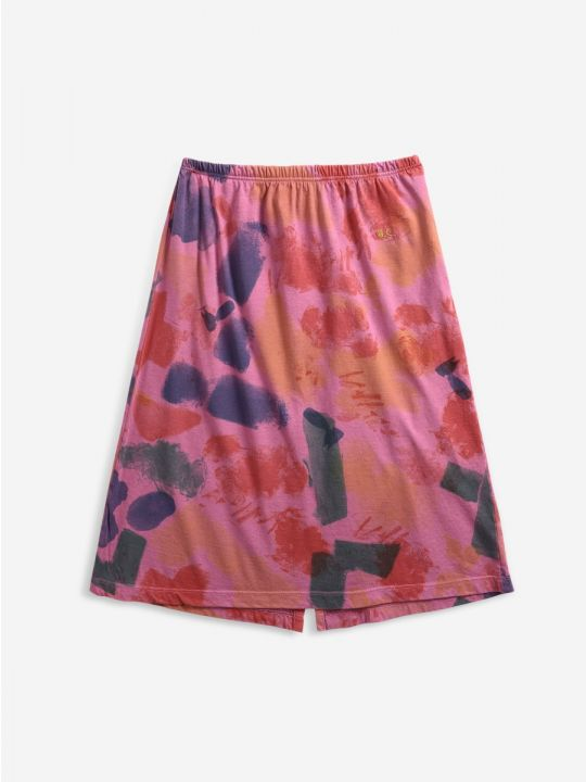 Painting Colors All Over midi skirt