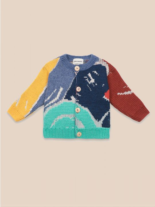 Multicolor Abstractions Cardigan