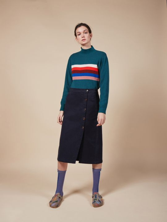 Stripes Turtle Neck Jumper