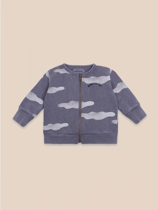 Clouds All Over Zipped Sweatshirt