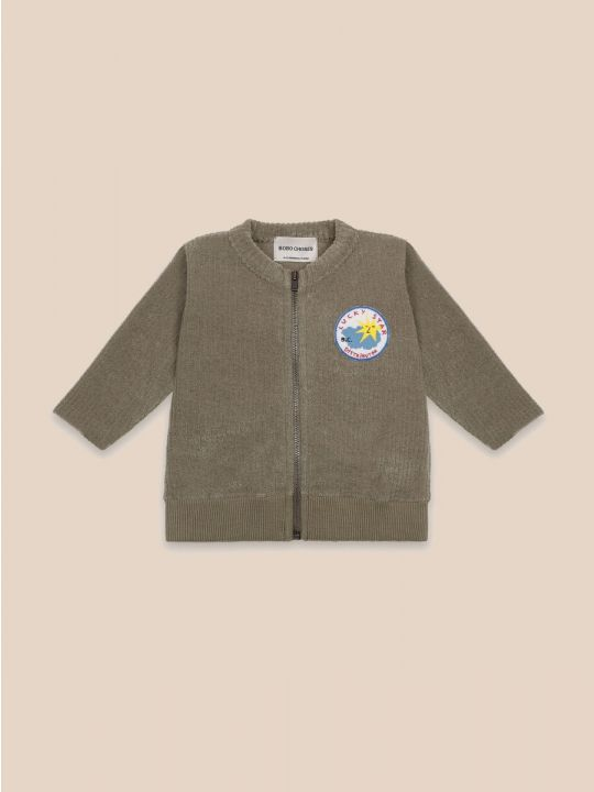 Lucky Star Patch Zipped Sweatshirt