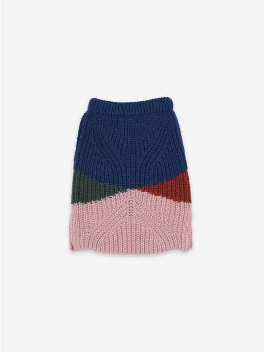 Color Block knitted skirt