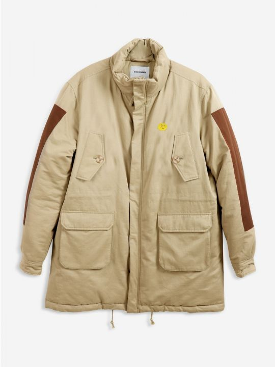 Embroidered Zip-Up Parka