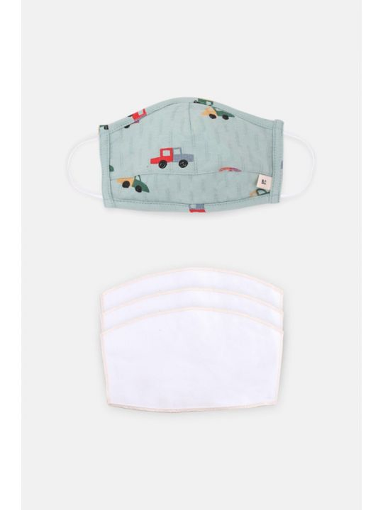 6-9 Years Cars Face Mask & Filter Pack