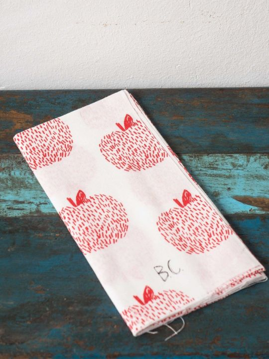 Apples Tenugui Hand Towel