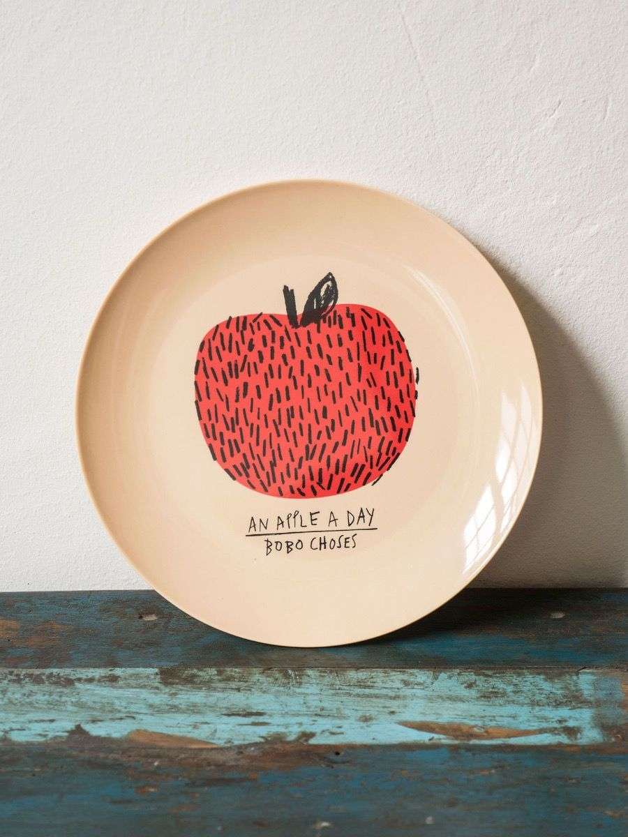Apples Plate - SIZE - ONE SIZE