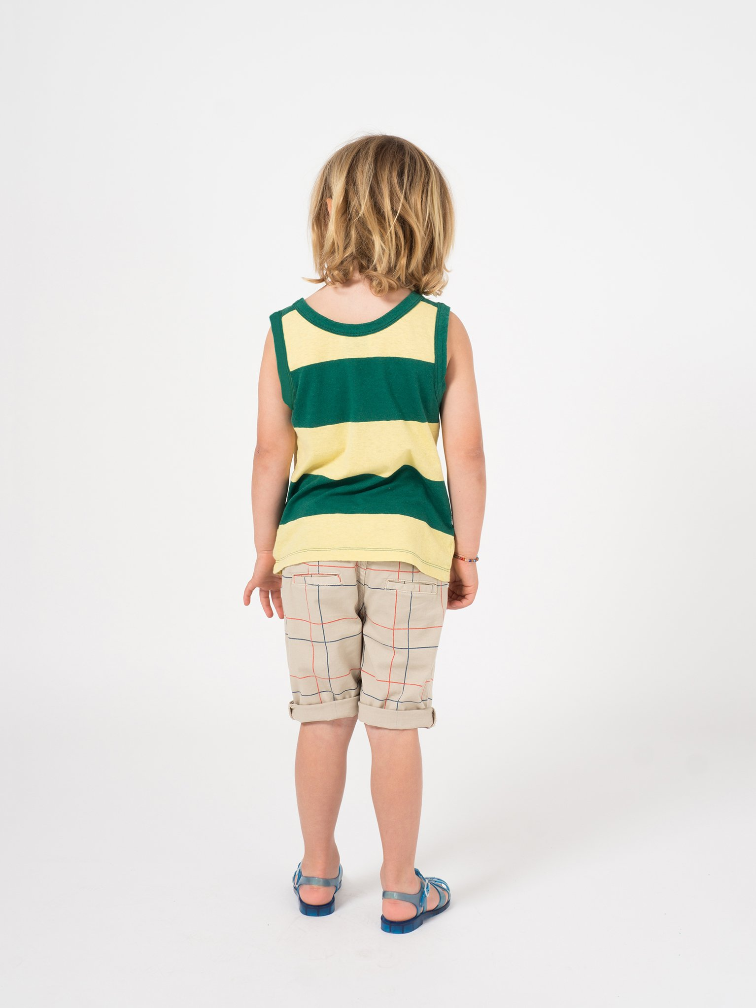Kid Open Linen Tank Top Look