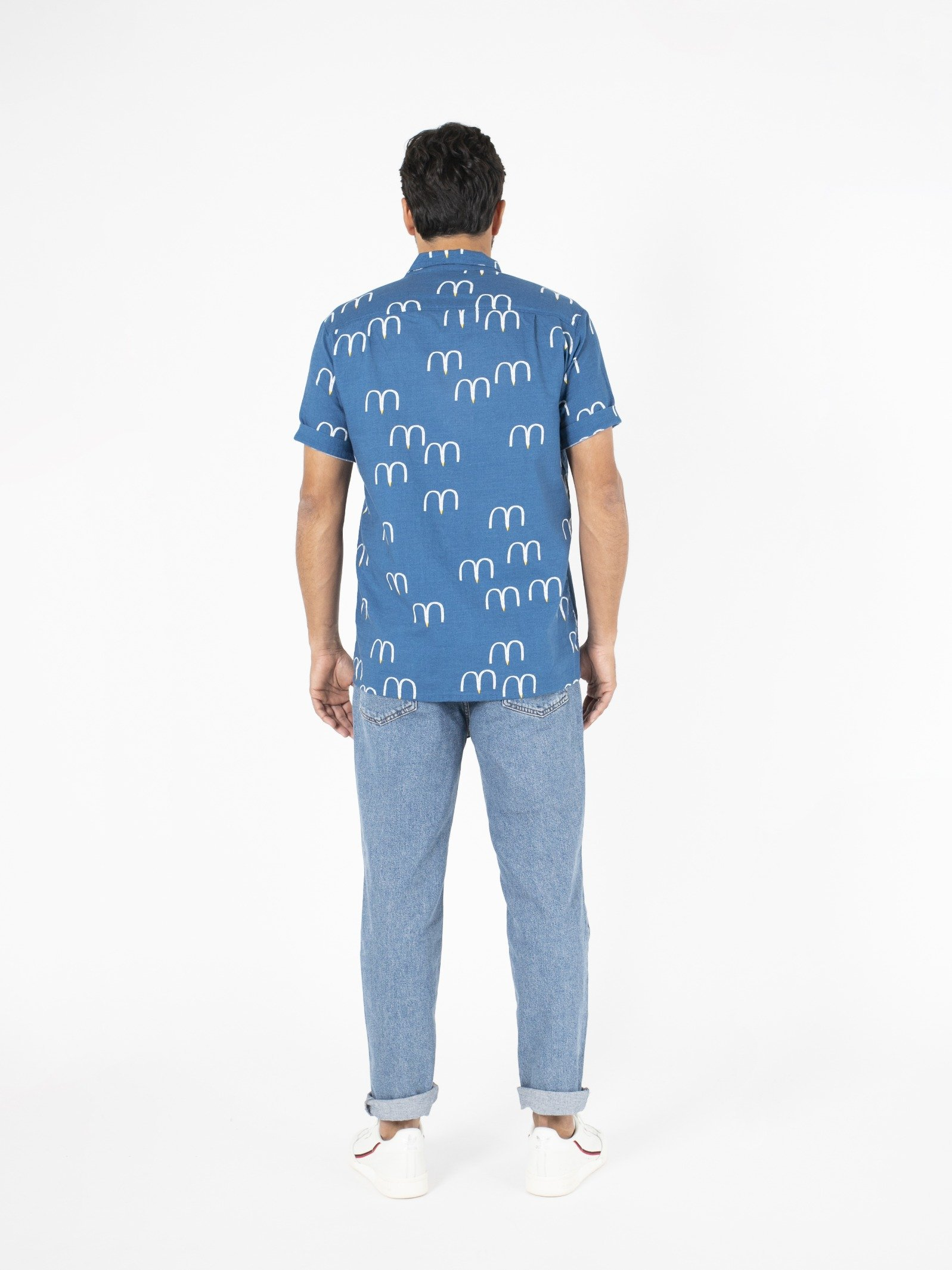 Man Birds Hawaiana Shirt Look