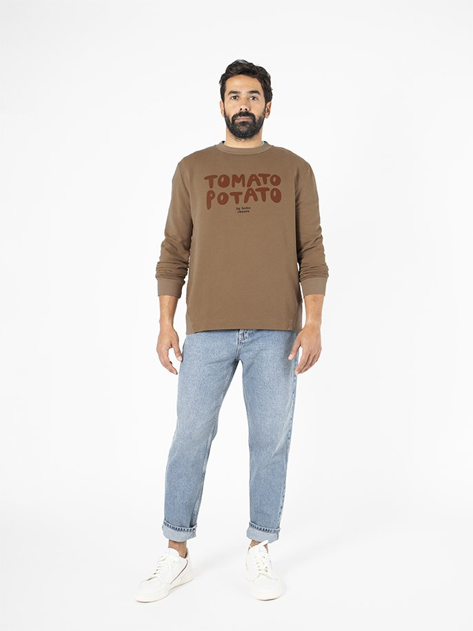 Tomato Potato Round Neck Sweatshirt