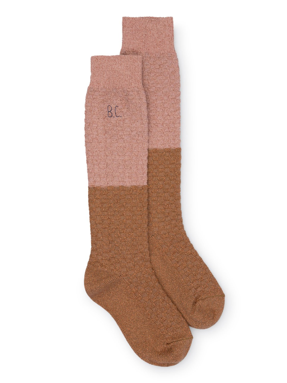 Gold and Pink Long Socks